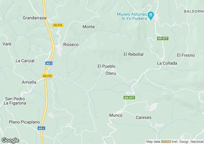 Map for Pelaiz - Cruce Tarana, Asturias, Spain