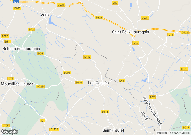 Map for les-casses, Aude, France