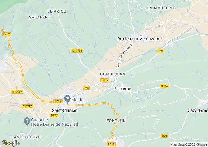 Map for Languedoc-Roussillon, Hérault, Pierrerue