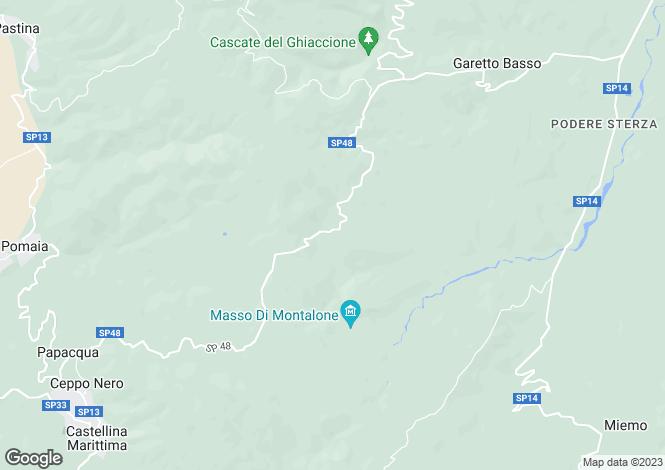 Map for Castellina Marittim, Pisa, Tuscany