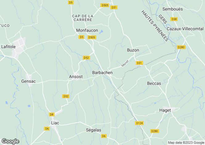 Map for Barbachen, Midi-Pyrenees, 65140, France