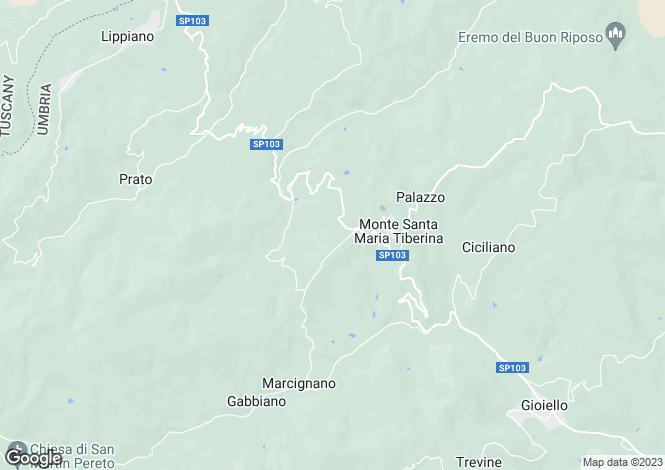 Map for Monte Santa Maria Tiberina, Umbria, Italy