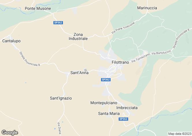 Map for Filottrano, Ancona, Le Marche