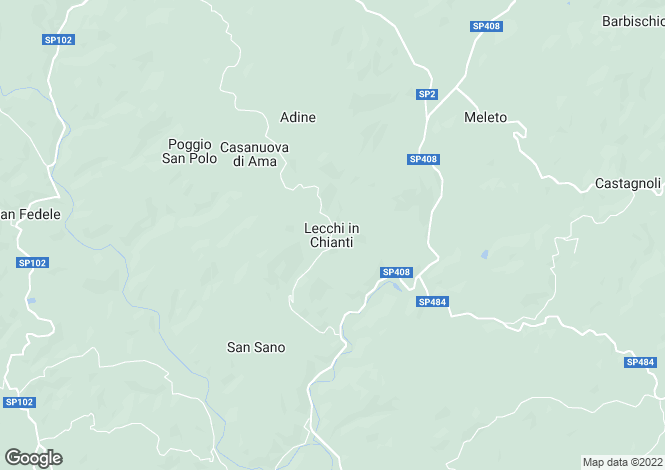 Map for Italy - Tuscany, Siena, Gaiole in Chianti
