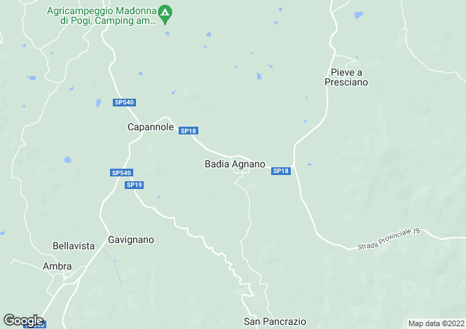 Map for La Manessina, Basia Agnano, Tuscany, Italy