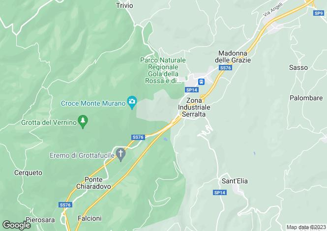 Map for Le Marche, Ancona, Serra San Quirico