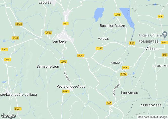 Map for Lembeye, Pyrénées-Atlantiques, Aquitaine