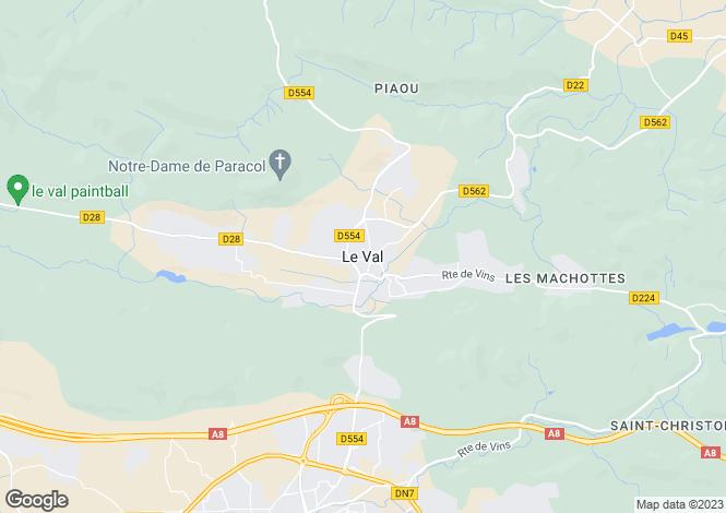 Map for Le Val, Var, 83143, France