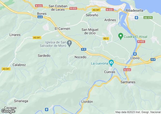 Map for Ribadesella, Asturias, Spain