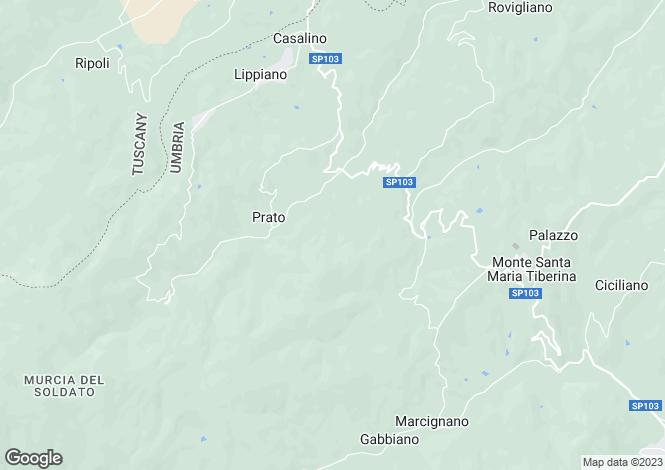 Map for Villa Spinalbello, San Pietro A Monte, Umbria, Italy