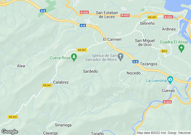 Map for Ribadesella, Asturias, Spain