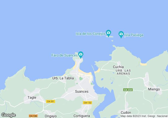 Map for Suances, Santander, Cantabria