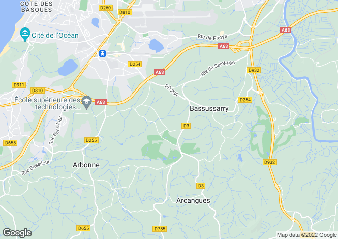 Map for ARCANGUES ,France