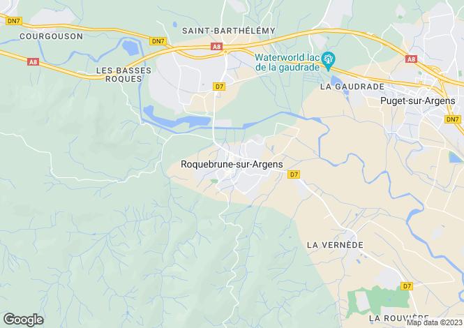 Map for Roquebrune-Sur-Argens, Var, 83520, France