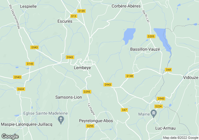 Map for Lembeye, Aquitaine, France