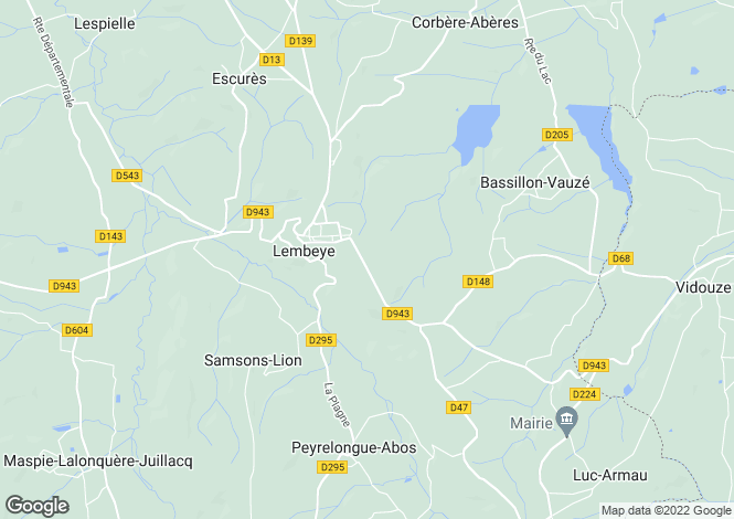 Map for Aquitaine, Pyrénées-Atlantiques, Lembeye