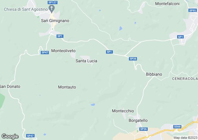 Map for San Gimignano, Siena, Tuscany