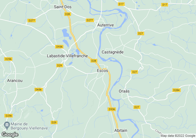 Map for escos, Pyrénées-Atlantiques, France