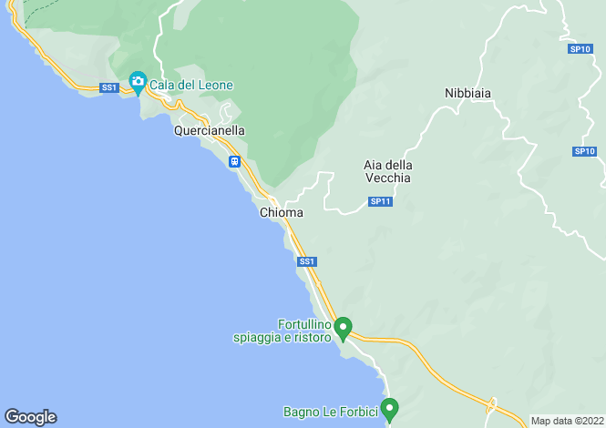Map for Castiglioncello, Livorno, Tuscany