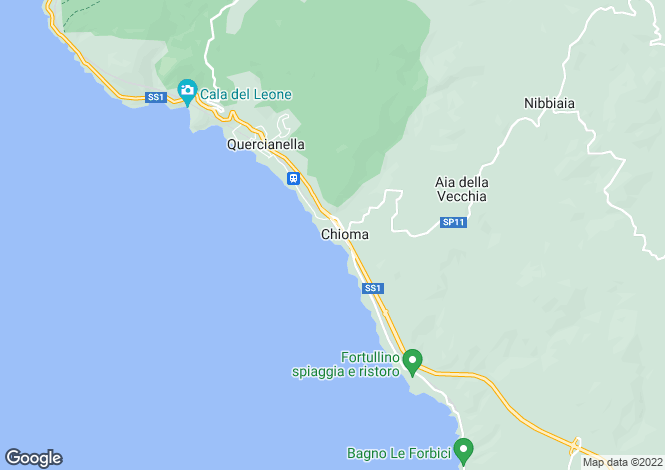 Map for Tuscany, Livorno, Quercianella