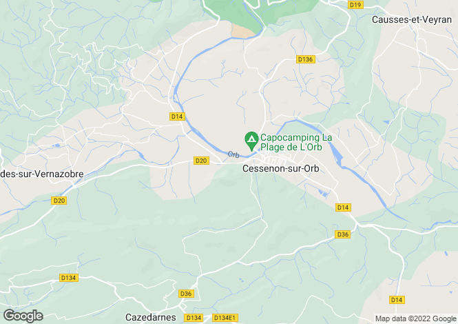 Map for Cessenon-sur-Orb, Herault, 34460, France
