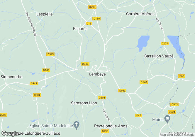 Map for Near Lembeye, Pyrenees Atlantiques, Aquitaine