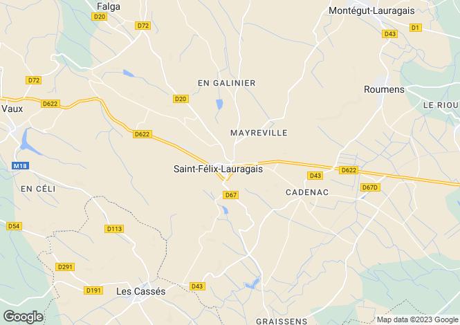 Map for st-felix-lauragais, Haute-Garonne, France