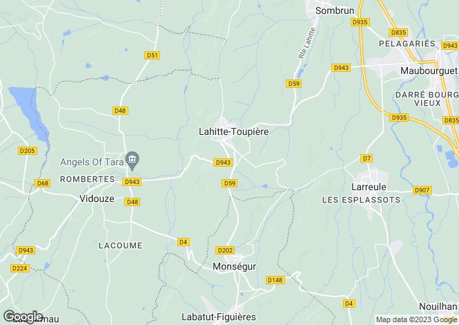 Map for lahitte-toupiere, Hautes-Pyrénées, France