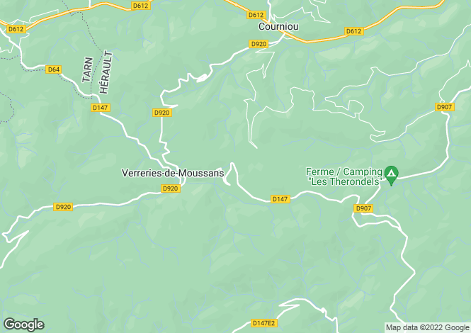 Map for verreries-de-moussans, Hérault, France