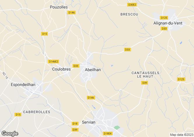 Map for Abeilhan, Hérault, Languedoc-Roussillon