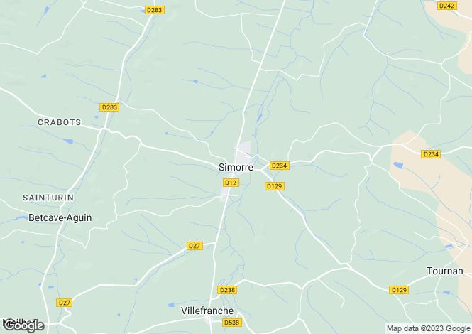 Map for Simorre, Midi-Pyrenees, 32420, France