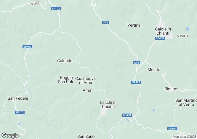 Map for Casa Adine, Gaiole In Chianti, Tuscany, Italy