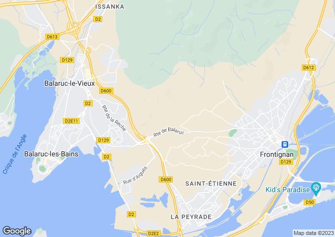 Map for Sète, Hérault, Languedoc-Roussillon