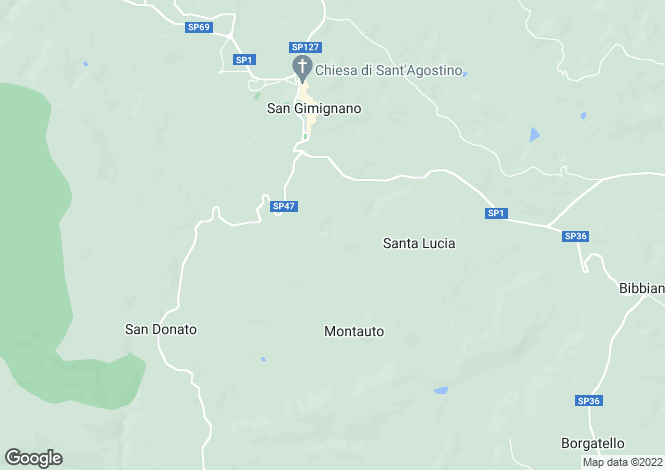 Map for San Gimignano,Italy