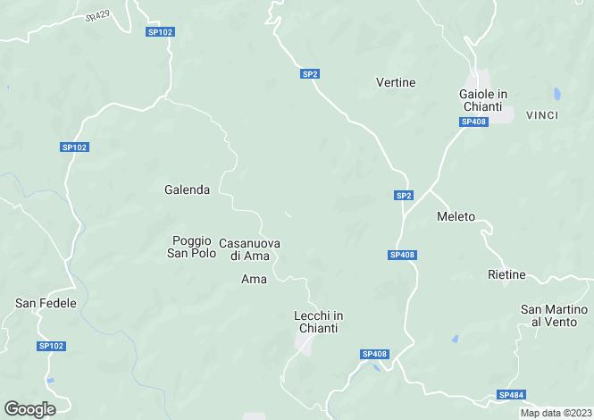 Map for Podere Brolio, Gaiole In Chianti, Tuscany, Italy