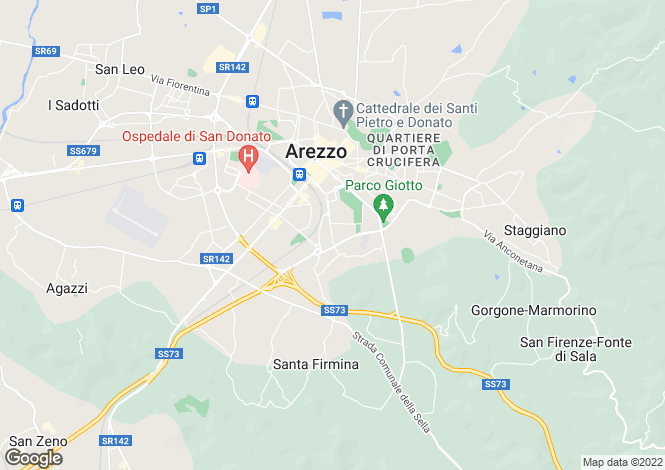 Map for Tuscany, Arezzo, Arezzo