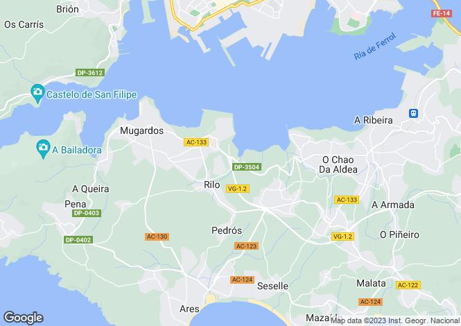 Map for Galicia, A Coruña, Mugardos
