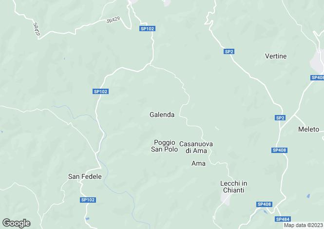 Map for Galenda, Gaiole In Chianti, Siena, Italy