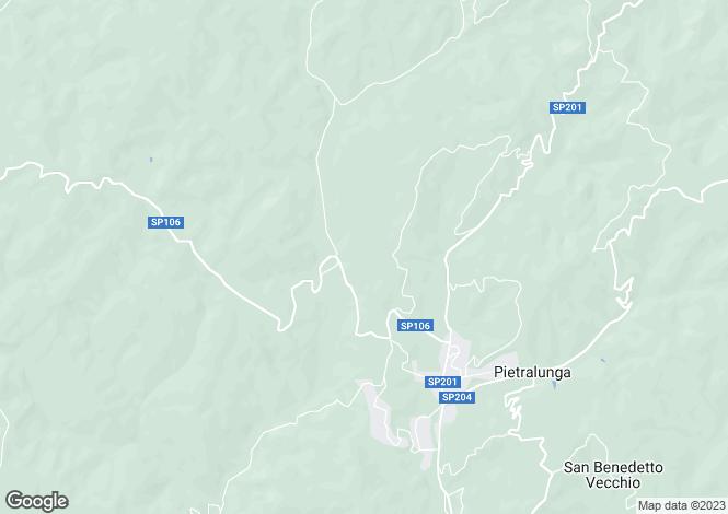 Map for Pietralunga, Perugia, Umbria