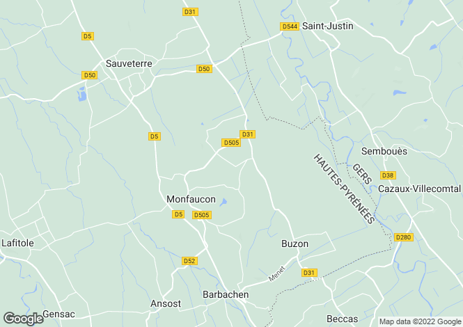 Map for Monfaucon, Midi-Pyrenees, 65140, France