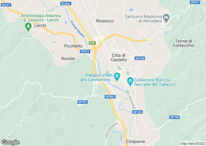 Map for Pian Della Volla, Citta di Castello, Umbria, Italy
