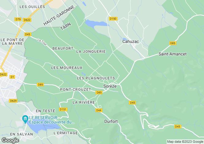 Map for soreze, Tarn, France