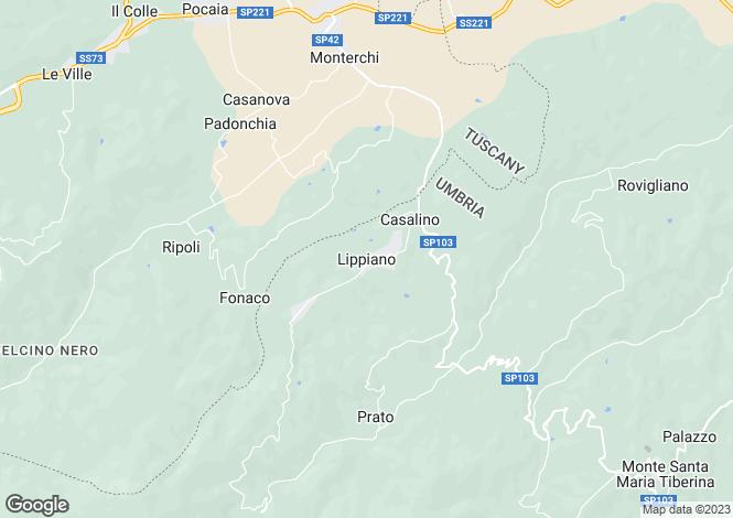 Map for Castellucci, Lippiano, Umbria, Italy