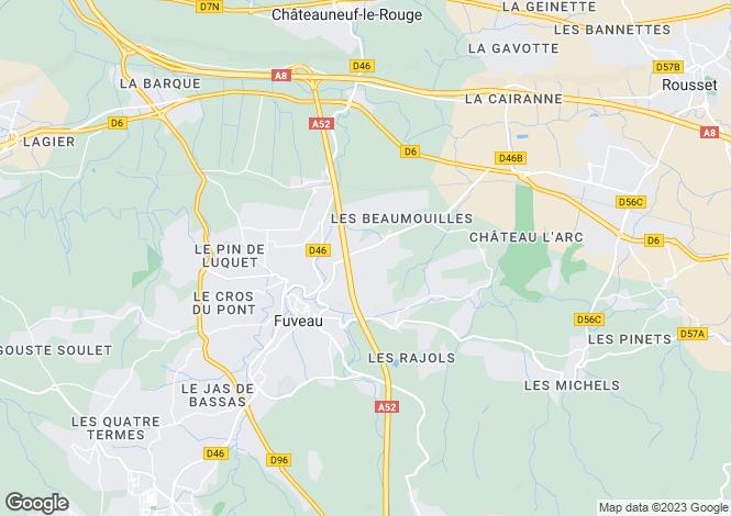 Map for FUVEAU, Aix en Provence Area, Provence - Var,