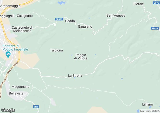 Map for Poggibonsi, Siena, Tuscany