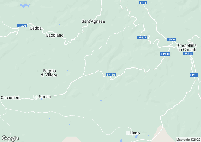 Map for Castellina in Chianti, Siena, Italy