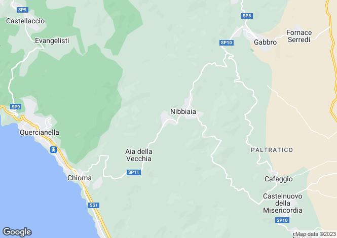 Map for Rosignano Marittimo, Livorno, Tuscany