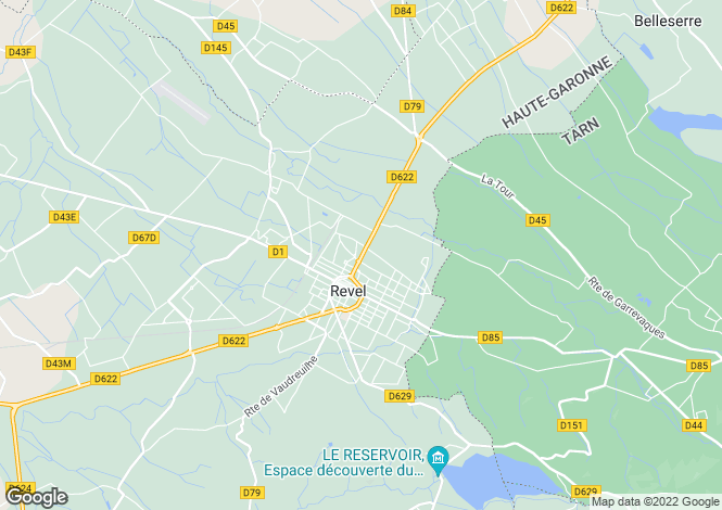 Map for Midi-Pyrenees, Haute-Garonne, Revel