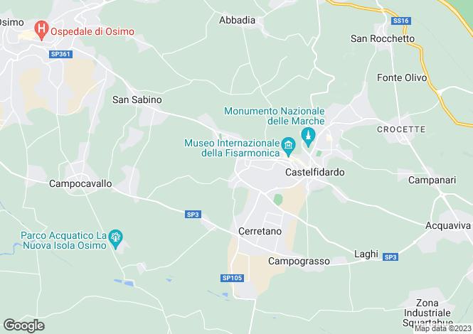 Map for Le Marche, Ancona, Castelfidardo