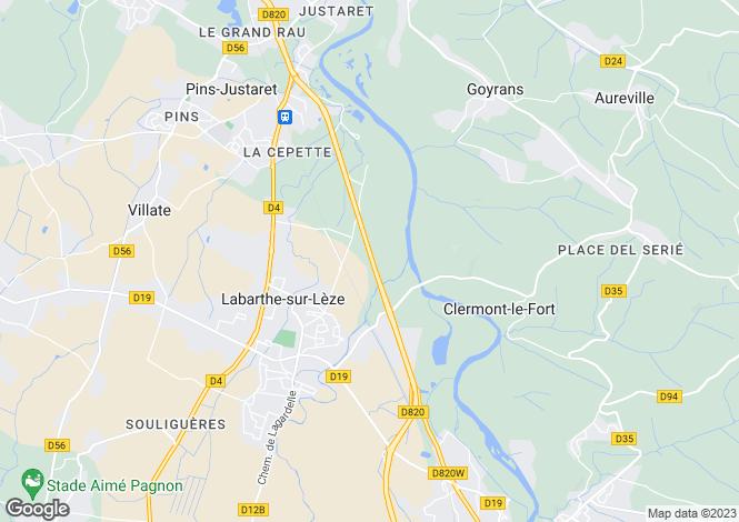 Map for thil, Haute-Garonne, France